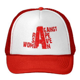 save woman against rape trucker hat