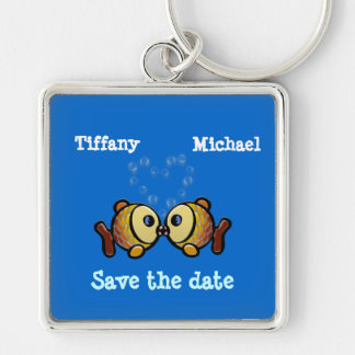 save your bubbles Silver-Colored square keychain