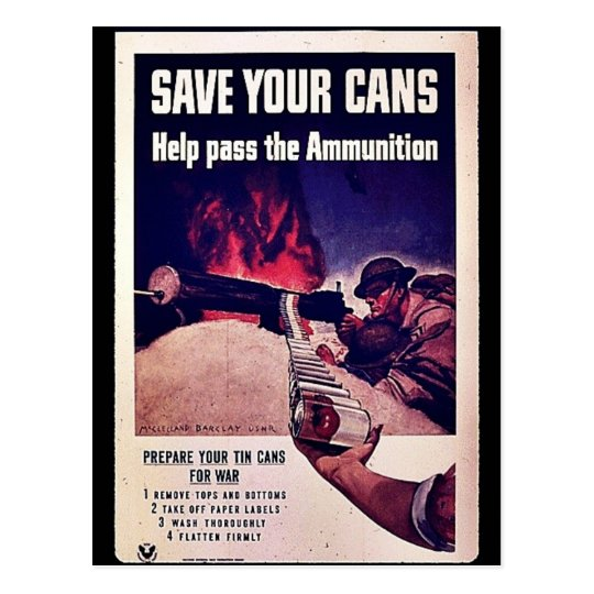 Save Your Cans Postcard