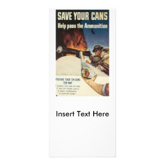 Save Your Cans World War 2 Rack Card
