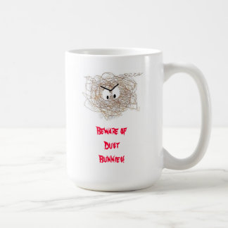 Save Your Data! Beware of Dust Bunnies! Classic White Coffee Mug
