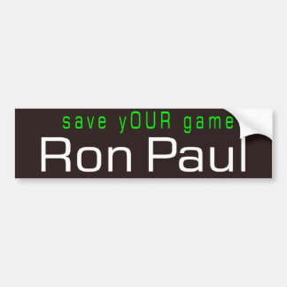 save yOUR game Car Bumper Sticker