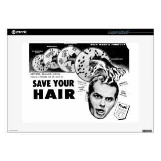 """Save Your Hair! Decal For 15"""" Laptop"""