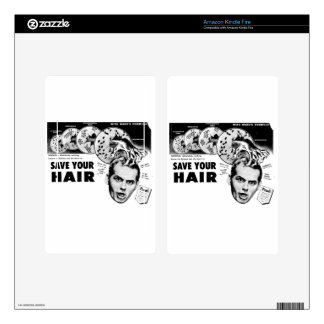 Save Your Hair! Decals For Kindle Fire