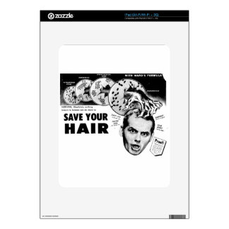 Save Your Hair! Decals For The iPad
