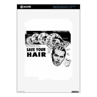 Save Your Hair! iPad 3 Decal