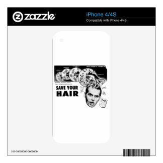 Save Your Hair! iPhone 4 Skin