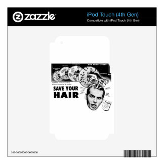Save Your Hair! iPod Touch 4G Decal