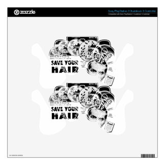 Save Your Hair! PS3 Controller Decal