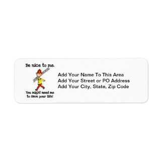 Save Your Life Firefighter Tshirts and Gifts Return Address Label