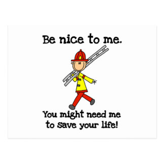Save Your Life Firefighter Tshirts and Gifts Postcard