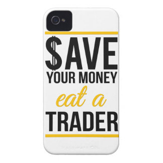 Save your money eat a trader Case-Mate iPhone 4 cases