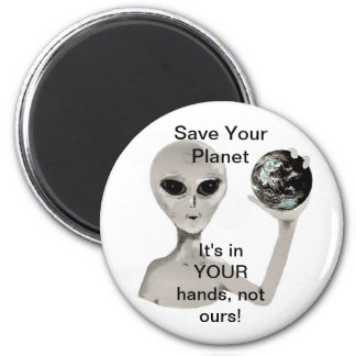 Save Your Planet 2 Inch Round Magnet