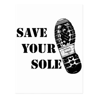 Save your sole postcard