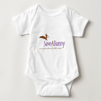SaveABunny Logo Baby Bodysuit