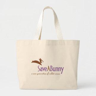 SaveABunny Logo Large Tote Bag