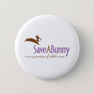 SaveABunny Logo Pinback Button