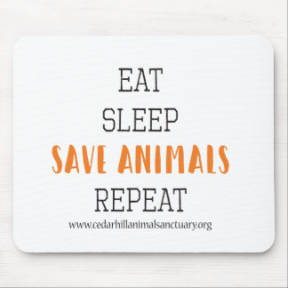 SaveAnimalsQuote Mouse Pad