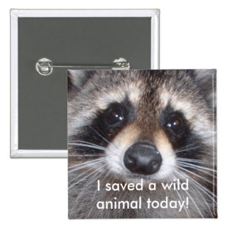 Saved a wild animal - raccoon button