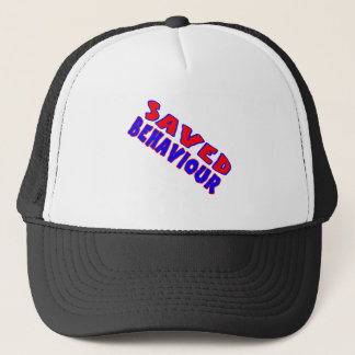 Saved Behaviour Red-Blue Diagonal Trucker Hat