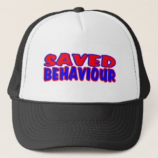 Saved Behaviour Red-Blue Trucker Hat