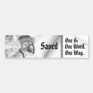 """Saved"" Bumper Sticker"