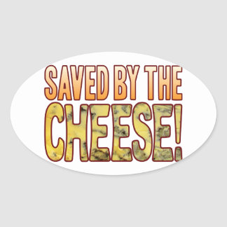 Saved By Blue Cheese Oval Sticker