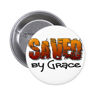 Saved by grace Christian design Button