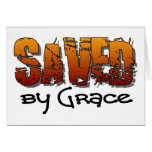 Saved by grace Christian design Greeting Card