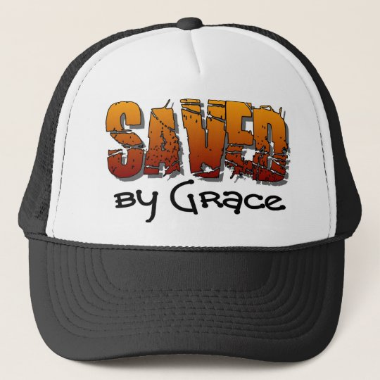 Saved by grace Christian design Trucker Hat