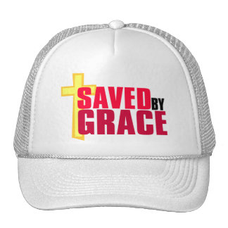Saved by Grace Christian gift design Hats