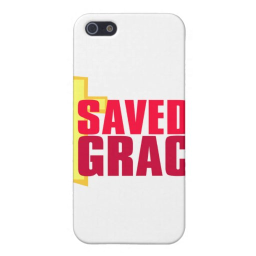 Saved by Grace Christian gift design iPhone 5 Cover