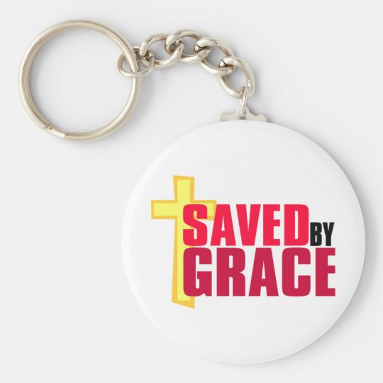 Saved by Grace Christian gift design Keychain