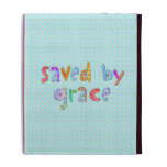 Saved By Grace Cute Christian Artsy Polkadots iPad Folio Cover