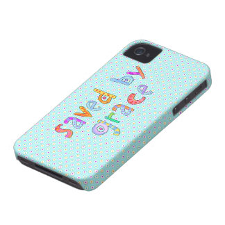 Saved By Grace Cute Christian Artsy Polkadots Case-Mate iPhone 4 Case