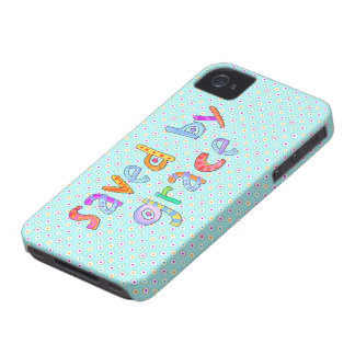 Saved By Grace Cute Christian Artsy Polkadots iPhone 4 Case-Mate Case
