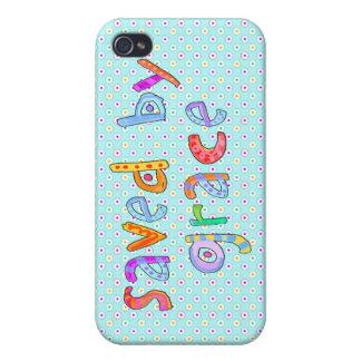 Saved By Grace Cute Christian Artsy Polkadots iPhone 4 Cover