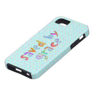 Saved By Grace Cute Christian Artsy Polkadots iPhone SE/5/5s Case