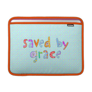 Saved By Grace Cute Christian Artsy Polkadots MacBook Air Sleeve