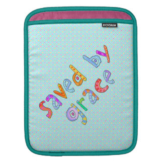 Saved By Grace Cute Christian Artsy Polkadots Sleeve For iPads