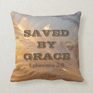 Saved By Grace Ephesians Bible Scripture Pillow