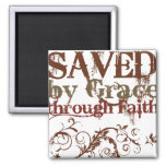 Saved by Grace Fridge Magnets