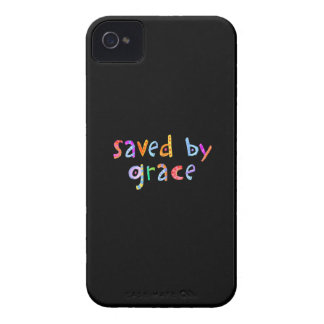 Saved By Grace Fun and Funky Christian iPhone 4 Case-Mate Case