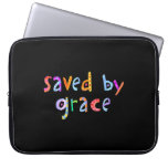 Saved By Grace Fun and Funky Christian Laptop Computer Sleeves