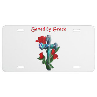 Saved by grace license plate