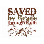 Saved by Grace Postcard