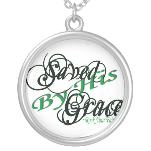 Saved by HIS Grace Silver Necklace