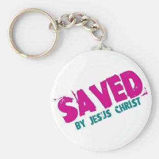 SAVED by Jesus Christ Basic Round Button Keychain