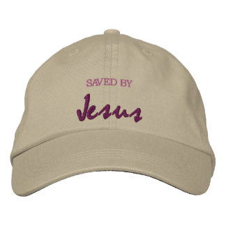 Saved by Jesus Embroidered Baseball Caps