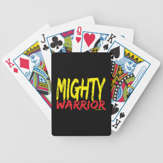 Saved by Mighty Warrior Poker Cards